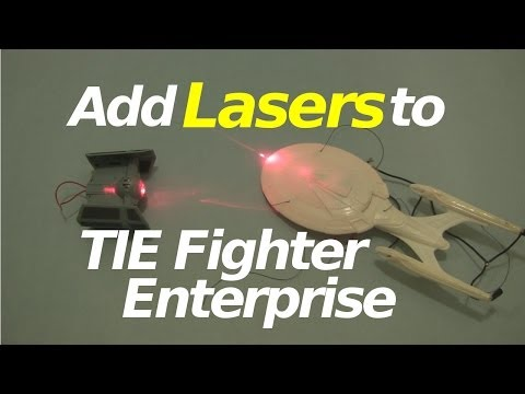 Adding Lasers to Star Wars TIE Fighter and Star Trek Enterprise Models