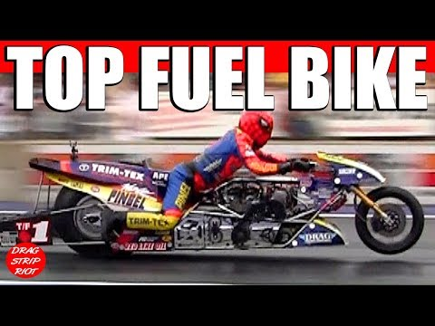 2013 Night Under Fire Larry Spiderman McBride Nitro Top Fuel Motorcycl