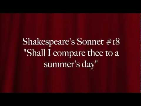 Shall I compare thee to a summer's day - W. Shakespeare