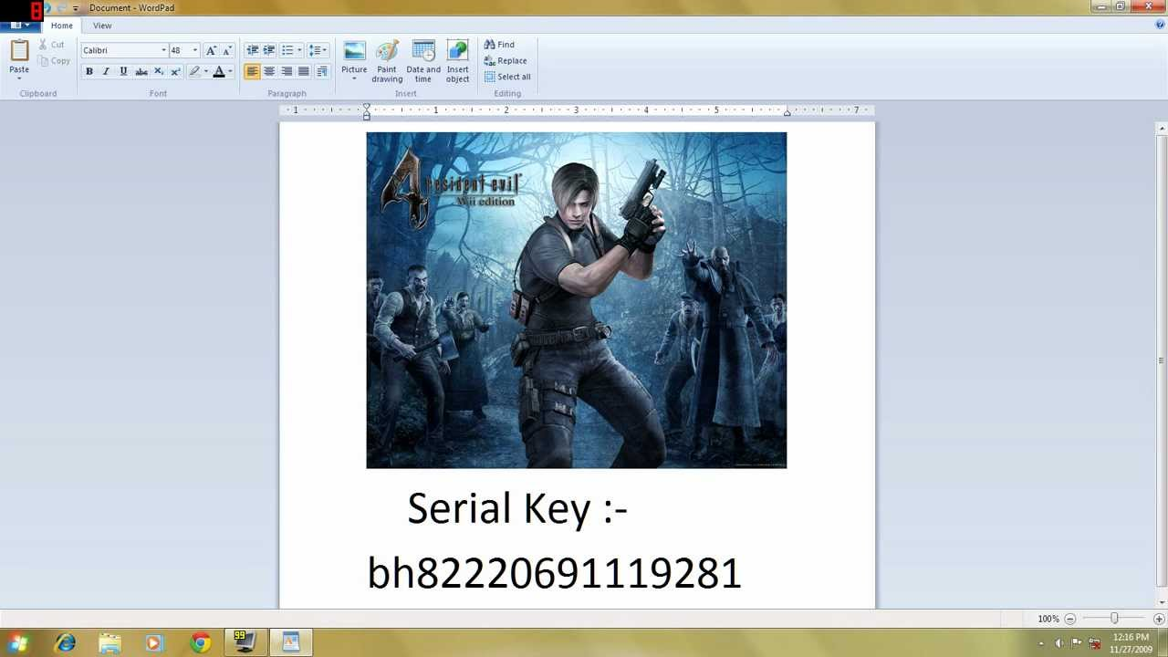 product key of resident evil 5