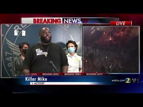 Killer Mike's Emotional Speech at Atlanta Mayor's Press Conference (May 29, 2020)