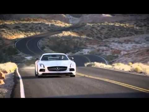 فيديو سيارة مرسيدس بنز SLS AMG سوداء الفئة 2014