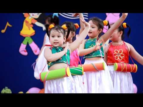 Bé Vân Khánh múa Trống Cơm - Bé iQ Thật Giỏi - www.beiqthatgioi.com