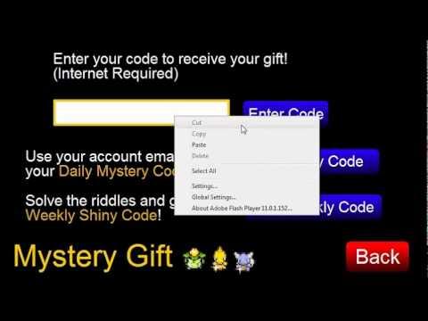 Pokemon Tower Defense All Pokemon Mystery Gift Code Generator