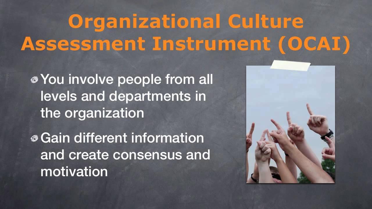 Organizational culture assessment instrument its features for Organizational culture assessment instrument template