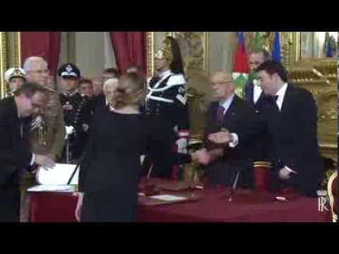 Matteo Renzi Giuramento e Ministri al Quirinale da Napolitano - Video Palazzo Chigi
