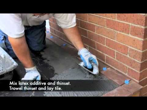 Down To Earth Outdoor Tile Installation Youtube