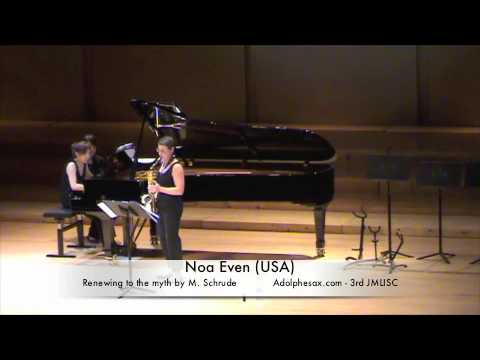 3rd JMLISC Noa Even USA Renewing to the myth by M  Schrude