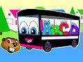 The Wheels On The Bus | Black Bus Version | Nursery Rhymes | Kids Learning Songs | Childrens Video