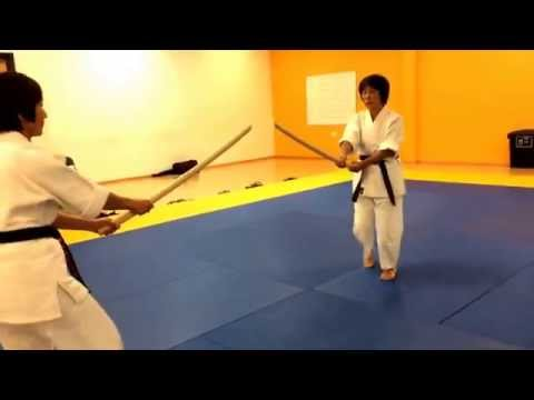 Bokken awase. Showing how important it is to keep seichusen, centre line