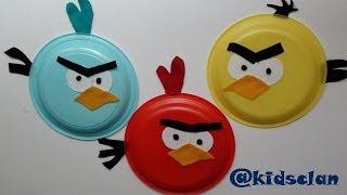 Angry Birds Con Platos De Plástico Manualidad Infantil