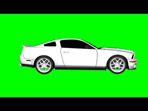 GTA Car green screen - Mustang GT with various movements - GTA Grand Theft Auto
