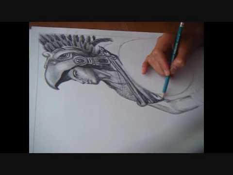 DIBUJO DE AZTECA .wmv - YouTube