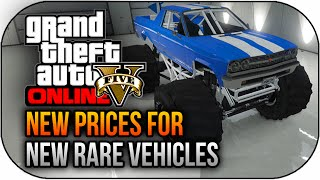 GTA 5 NEW Rare Vehicle Prices $1,325,000 Sub,Monster Truck