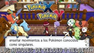 Pokémon X / Y ۩ Los Ataques De Keldeo Y Meloetta