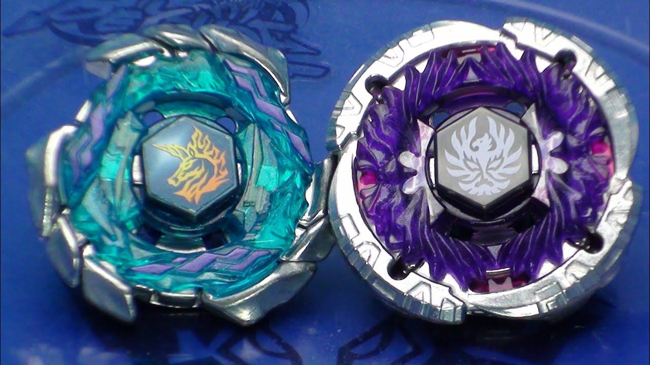 Beyblade Blitz Unicorno 100RSF vs Jade Jupiter S130RB ...