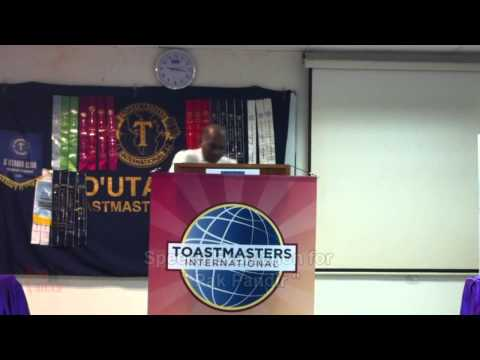 20121004 D'Utama Toastmasters Evaluation Session