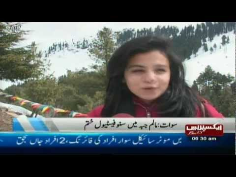 swat snow festival in malam jabba pakistan sherin zada express news swat 2013