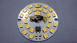 Test and analysis of unusual (dead) LED lamp.