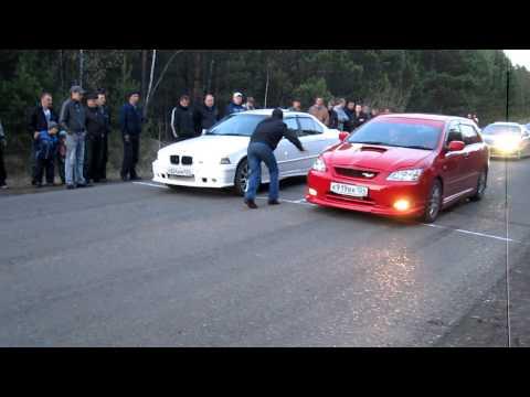 Драг-заезд Toyota Runx 2ZZ-GE vs BMV