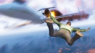 "GTA 5 Stunts In Air ""SKYFALL"" (INSANE GTA 5 STUNT MONTAGE)"