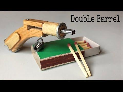 Cách làm súng bắn diêm 2 nòng bằng gỗ