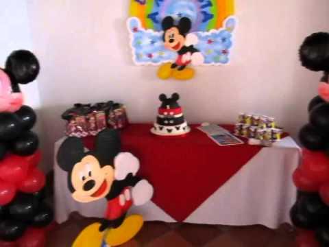 Decoraciónes de fiesta niños de Mickey - Imagui
