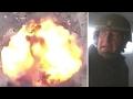 Sky News crew nearly hit by roadside bomb in Iraq