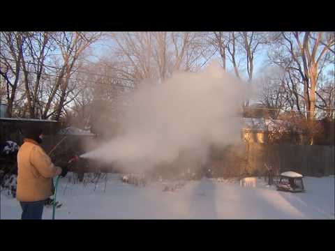 Hot Water Garden Hose In Extreme Cold Weather: Temperature - 14 F