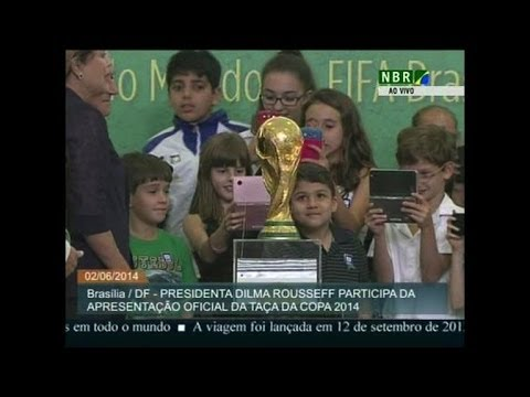 Blatter presents World Cup trophy to Brazil president