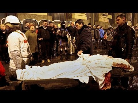 Bloodiest day in Kyiv: EU announce sanctions and talks with President Viktor Yanukovych set to...