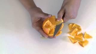 كيفية عمل زهرة من البرتقال للتزيين