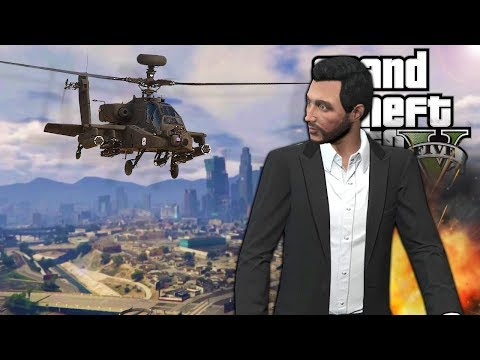 I Trolled My Friends with an Attack Helicopter in GTA 5 Online! - GTA V Funny Moments
