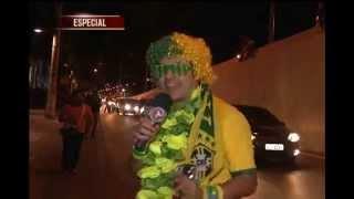 O torcedor mais assíduo do Alterosa Esporte, Zé Selfie, também foi para a porta do hotel esperar a Seleção Brasileira chegar. Enquanto os jogadores não apareciam, ele fez muita bagunça com os torcedores. Acompanhe:
