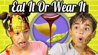 Kids Vs. Food | EAT IT OR WEAR IT CHALLENGE