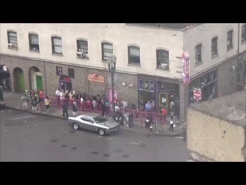Voodoo Donuts in Portland, Oregon - Watching the Action from Our Room!