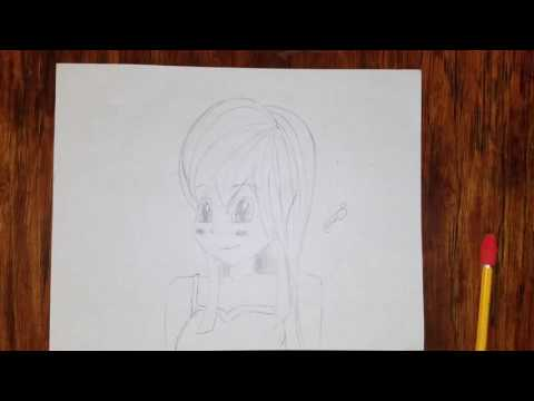 Mickysdoodles Manga Girl Face Drawing Tutorial (Time Lapse)