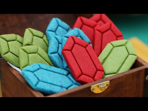 LEGEND OF ZELDA RUPEE COOKIES ft Sam Tsui - NERDY NUMMIES