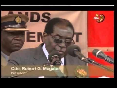 Robert Mugabe on Zimbabwe land