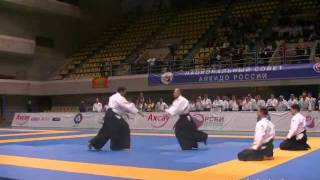 Aikido 合気道 Demonstration by Vadim Grachev, 5 Dan Shidoin