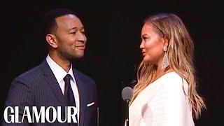 John Legend's Tearful Tribute to Chrissy Teigen | Glamour WOTY 2018