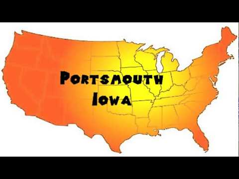 How to Say or Pronounce USA Cities — Portsmouth, Iowa