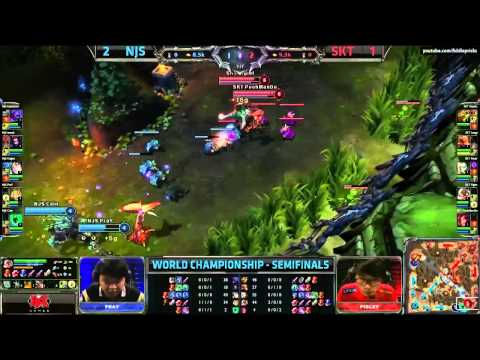 NaJin Black Sword vs SKT Telecom T1 Game 4 (S3 World Championship Semi Finals)