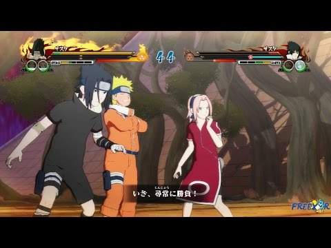 Naruto Shippuden Ultimate Ninja Storm Revolution - PTS Team 7 vs Team Taka