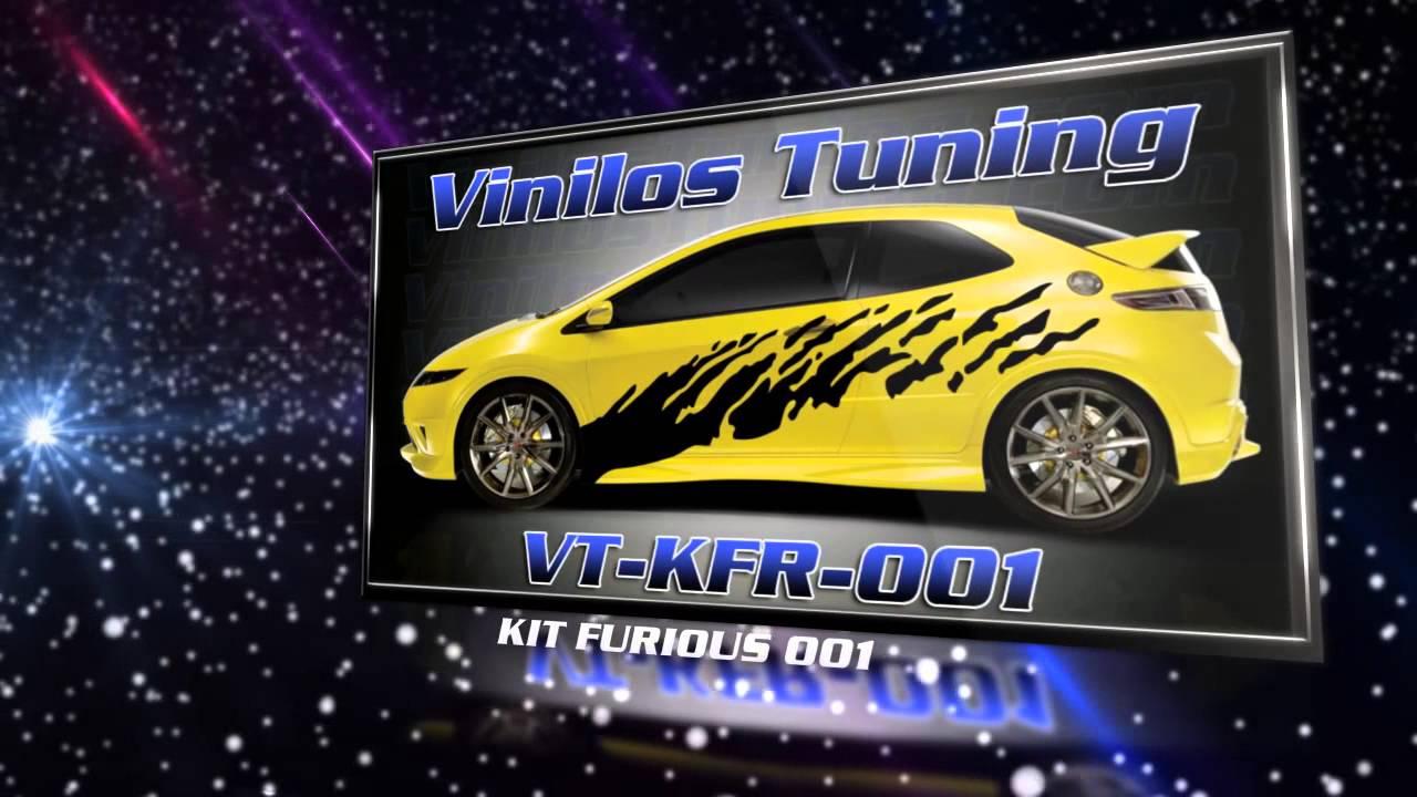 Vinilos tuning kit 39 s laterales adhesivos personalizados for Vinilos para coches