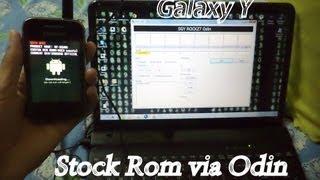 Installing(Flashing) Stock Rom On Samsung Galaxy Y(S5360