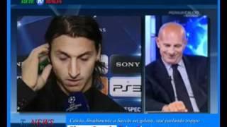 "15/09/2010 - Ibrahimovic a Sacchi: ""Sei geloso, stai parlando troppo"""
