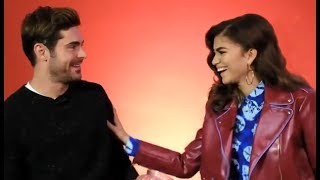 Zendaya & Zac Efron Get Intimate