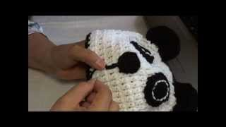 How To Crochet A Panda Beanie Video 3