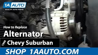 How To Install Replace Alternator Chevy Silverado Pickup
